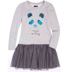 Sukienka z tiulową falbanką dla dziewczynki 3-8 lat D72H026_1