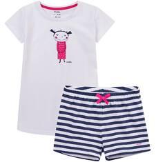 Piżama z krótkimi spodenkami dla dziewczynki 4-8 lat D71V001_1