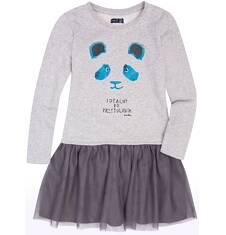 Sukienka z tiulową falbanką dla dziewczynki 9-13 lat D72H526_1