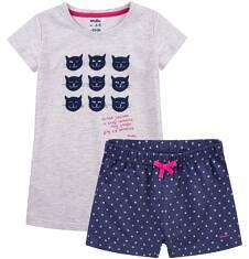 Piżama z krótkimi spodenkami dla dziewczynki 9-13 lat D71V502_1