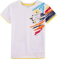 T-shirt z kontrastowym wykończeniem dla chłopca 4-8 lat C71G017_1