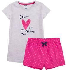 Piżama z krótkimi spodenkami dla dziewczynki 4-8 lat D71V006_1
