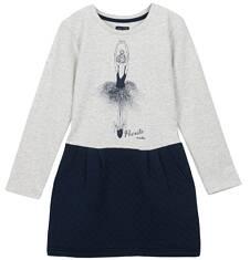 Sukienka z odcinanym dołem i kieszeniami dla dziewczynki 3-8 lat D62H006_1