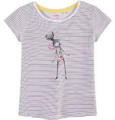 Bluzka z krótkim rękawem dla dziewczynki 4-8 lat D71G046_1