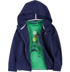 Bluza dresowa z kapturem na suwak dla chłopca 9-13 lat C71C502_2