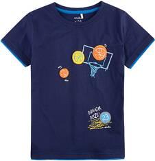 T-shirt z kontrastowym wykończeniem dla chłopca 9-13 lat C71G577_1
