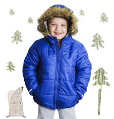 Długa kurtka zimowa dla chłopca 3-8 lat C62A003_1