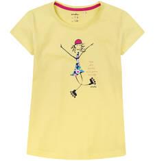 Bluzka z krótkim rękawem dla dziewczynki 4-8 lat D71G121_1