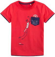 T-shirt z kontrastowym wykończeniem dla chłopca 9-13 lat C71G592_1