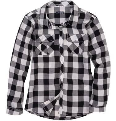Koszula w kratę dla dziewczynki D61F003_1