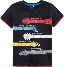 T-shirt z kontrastowym wykończeniem dla chłopca 9-13 lat C71G607_1
