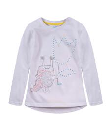 Bluzka z dłuższym tyłem dla dziewczynki D52G040_1
