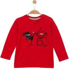 T-shirt z długim rękawem dla niemowlaka N62G017_1