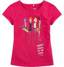 Bluzka z krótkim podwiniętym rękawem dla dziewczynki 4-8 lat D71G045_2