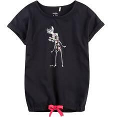 Tunika z krótkim rękawem i troczkiem dla dziewczynki 4-8 lat D71G050_1