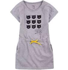 Sukienka z kieszeniami i troczkiem dla dziewczynki 9-13 lat D71H506_1