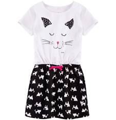 Sukienka z kieszeniami i troczkiem dla dziewczynki 9-13 lat D71H509_1
