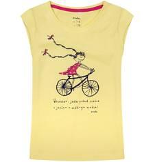 Bluzka z krótkim rękawem dla dziewczynki 9-13 lat D71G622_1