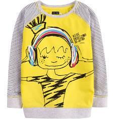 Bluza dresowa przez głowę dla dziewczynki 9-13 lat D71C518_1