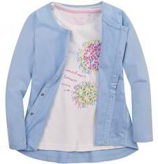 Bluza zapinana na napy dla dziewczynki 4-8 lat D71C005_2