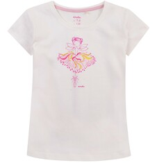 Bluzka z krótkim rękawem dla dziewczynki 9-13 lat D71G638_1