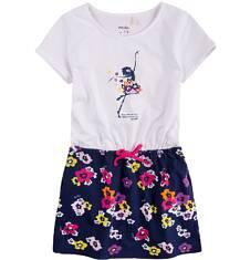 Sukienka z kieszeniami i troczkiem dla dziewczynki 4-8 lat D71H070_1