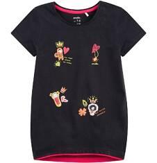 Tunika z krótkim rękawem dla dziewczynki 9-13 lat D71G570_1