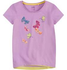 Tunika z krótkim rękawem dla dziewczynki 4-8 lat D71G083_1