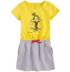 Sukienka z kieszeniami i troczkiem dla dziewczynki 4-8 lat D71H022_1