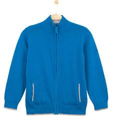 Rozpinany sweter ze stójką dla chłopca C61B002_1