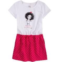 Sukienka z kieszeniami i troczkiem dla dziewczynki 4-8 lat D71H016_1