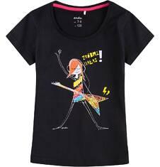 Bluzka z krótkim rękawem dla dziewczynki 9-13 lat D71G537_1