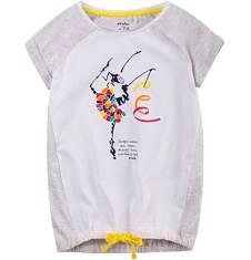 Tunika z krótkim rękawem dla dziewczynki 4-8 lat D71G104_1