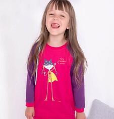 Ciepła sukienka o charakterze bluzy dla dziewczynki 3-8 lat D72H020_1