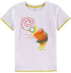T-shirt z kontrastowym wykończeniem dla chłopca 9-13 lat C71G665_1