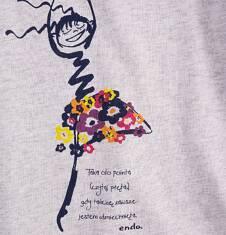 Tunika z krótkim rękawem dla dziewczynki 4-8 lat D71G103_1