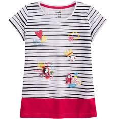 Tunika z krótkim rękawem dla dziewczynki 4-8 lat D71G067_1