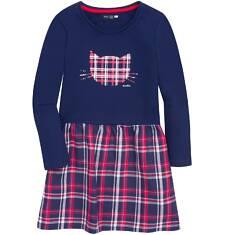 Sukienka z dołem w kratkę dla dziewczynki 3-8 lat D72H035_1
