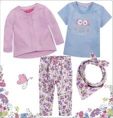 Zestaw dla dziecka 0-3 lata z kolekcji Mała romantyczka ND_020