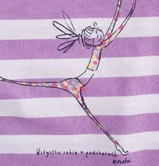 Tunika z krótkim rękawem i troczkiem dla dziewczynki 4-8 lat D71G095_1