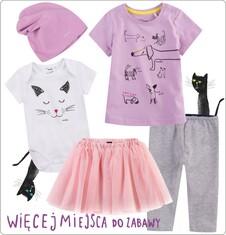 Zestaw dla dziewczynki 0-3 lata z kolekcji Mam kota ND_032