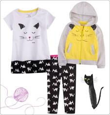 Zestaw dla dziewczynki 0-3 lata z kolekcji Mam kota ND_036