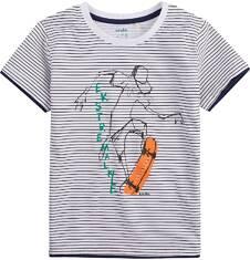 T-shirt z kontrastowym wykończeniem dla chłopca 4-8 lat C71G133_1