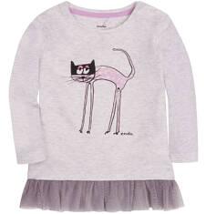 Bluzka z tiulową mini falbanką dla dziecka 6-36 m N72G023_1