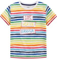 T-shirt z kontrastowym wykończeniem dla chłopca 4-8 lat C71G014_1