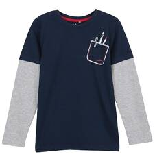 T-shirt z długim rękawem dla chłopca 3-8 lat C62G007_1