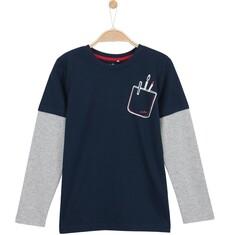 T-shirt z długim rękawem dla chłopca 9-12 lat C62G507_1