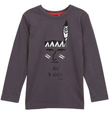 T-shirt z długim rękawem dla chłopca 9-12 lat C62G567_2