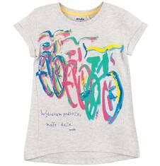 Bluzka z rozszerzanym dołem dla dziewczynki D61G129_1