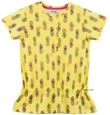 Bluzka z falbanką w kwiatowy deseń  dla dziewczynki D61G203_1